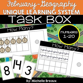 February Unit 21 Unique Learning System Task Box- Counting 1-20 Tens Frames