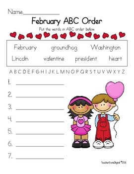 Free Valentines Day Worksheets Resources  Lesson Plans