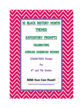February Valentine/Black History Expository Writing Bundle 39 Prompts 6th 7th