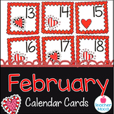 February Calendar Cards for Morning Math, Number Corner, & Number Talks