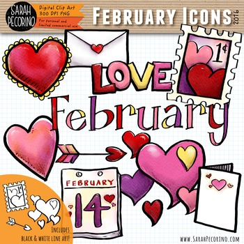 February Valentine Clip Art {First Edition}