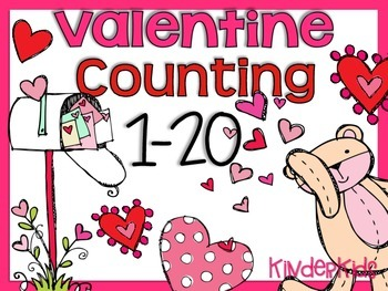 February Valentine Counting 1-20