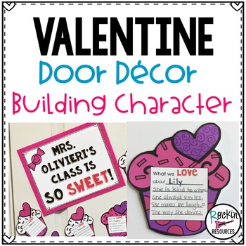 February Door Decor or Valentine Bulletin Board to Build Character