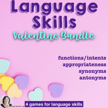 Valentines Day Speech Therapy Bundle Social Language and Vocabulary