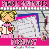 February Valentine Themed (Simple Predictable Sentences for Beginning Readers)