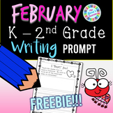 February / Valentine's Writing Prompt FREEBIE: Kinder, 1st Grade, 2nd Grade