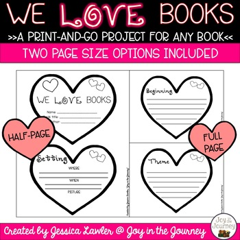 February Valentine's Day Book Project for ANY Book