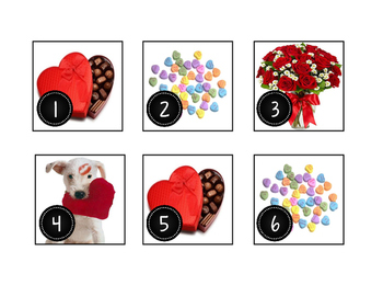 February Valentine's Day Calendar Cards-Real Photos