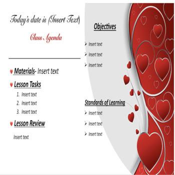 February/Valentine's Day Editable Powerpoint Slides