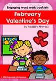 February - Valentine`s Day Engaging word work book