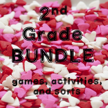 February/Valentine's Day Math Games, Activities, and Sorts for 2nd Grade