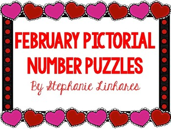February/Valentine's Day Number Pictorial Puzzles