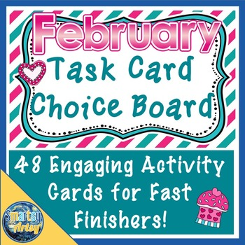 February Valentine's Day Task Card Choice Board