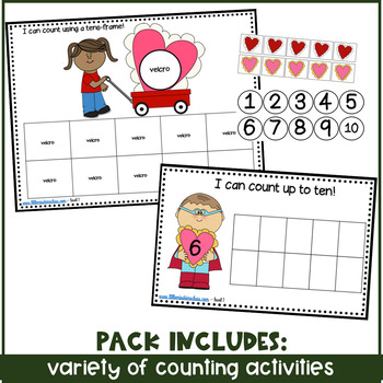 February/ Valentine's Day Themed Math Centers for ECE, Kinder or Special Needs
