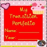 February Valentine's Day Transition Plan Portfolio FREEBIE! SPED/Autism/ID/SLD
