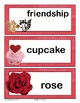 February / Valentine's Day Word Wall Cards: {English version}