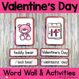 February - Valentine's Day  - Word Wall Words and Puzzle A