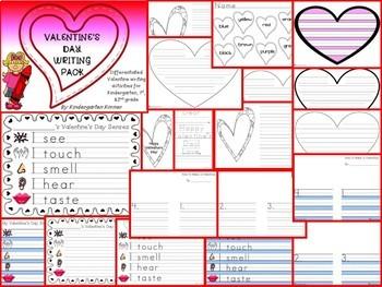 February Valentine's Day Writing Bundle - K 1 2