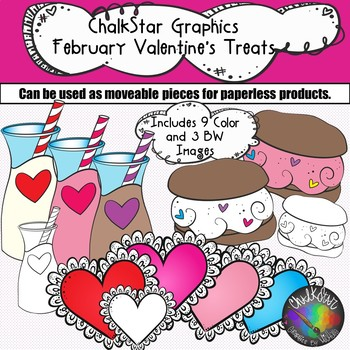 February Valentine's Treats Clip Art