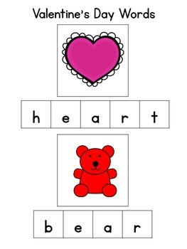 February Valentine's Basic Skills Activity Pack for Students with Autism