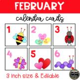 February Valentines Calendar Cards (3 INCH)