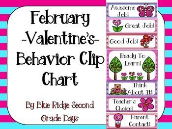 February Valentine's Day Behavior Clip Chart