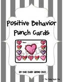 February / Valentine's Day Positive Behavior Punch Cards
