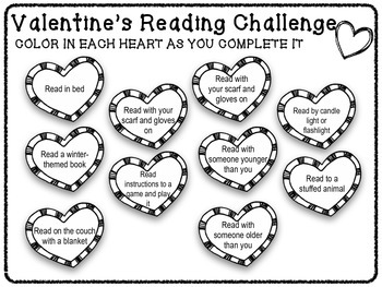 February Valentine's Day Reading Challenge