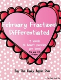 Equivalent Fractions: Differentiated Puzzles (February Val