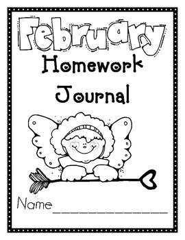 February Valentines Journal Cover, Newsletter, and Phonics
