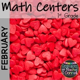 February Math Centers First Grade Valentines