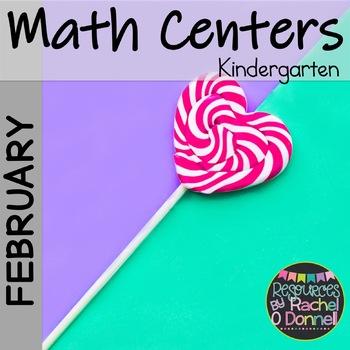 February Valentines Math Centers Kindergarten