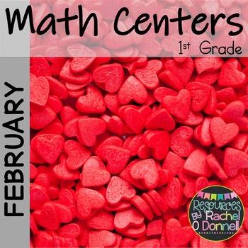 February Valentines Math Freebie First Grade