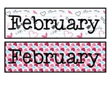 February Valentine's Themed Calendar Pieces