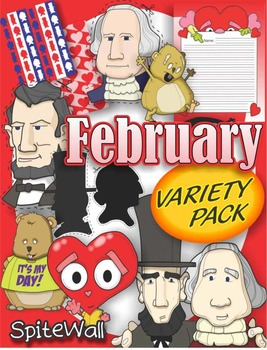 February Variety Pack for February Themed Activities, i.e. Presidents Day