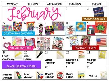 February Visual Lesson Plans