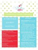 Valentine February Vocabulary Activities: Kindness, Sweet, Poetry