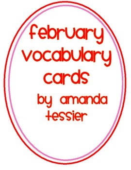 February Vocabulary Cards
