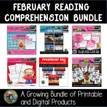 February Vocabulary Literacy Bundle