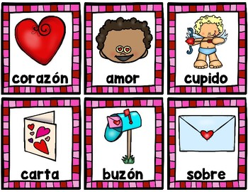 February Vocabulary - SPANISH