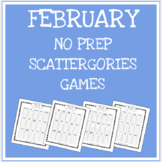 February Vocabulary Scattergories Game
