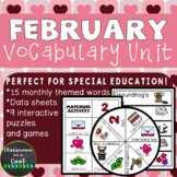 February Vocabulary Unit for Special Education