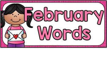 February Vocabulary Words