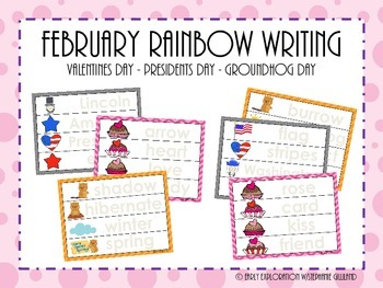 February Rainbow Writing
