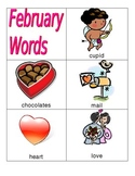 February Vocabulary Words-- Valentine's, Groundhog Day, President's