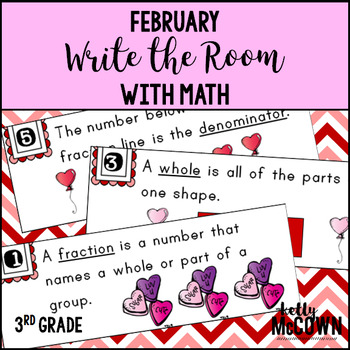 February WRITE THE ROOM with Math - 3rd Grade
