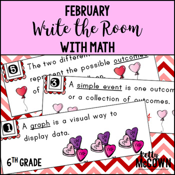 February WRITE THE ROOM with Math - 6th Grade
