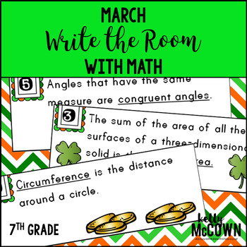 March WRITE THE ROOM Math 7th Grade