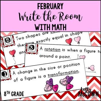 WRITE THE ROOM Math February 8th Grade