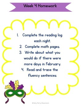 February Week 4 Homework Packet